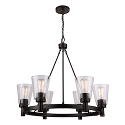 Artcraft Clarence Ac10766Ob 6 Light Chandelier