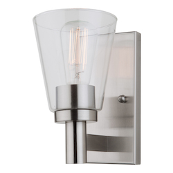 Artcraft Clarence Ac10767Bn 1 Light Wall Sconce