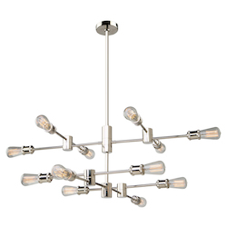 Artcraft Tribeca Ac10782Pn 12 Light Chandelier
