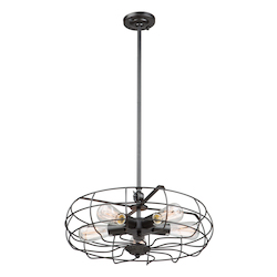 Artcraft Windswept Ac10787Bk 5 Light Chandelier