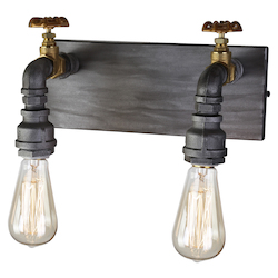 Artcraft American Industrial Ac10812 2 Light Wall Sconce