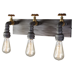 Artcraft American Industrial Ac10813 3 Light Wall Sconce