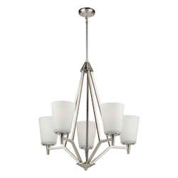 Artcraft Clayton Ac10915Bn 5 Light Chandelier