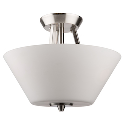 Artcraft Clayton Ac10918Bn 3 Light Flush Mount