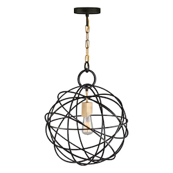 Artcraft Orbit Ac10951 1 Light Chandelier