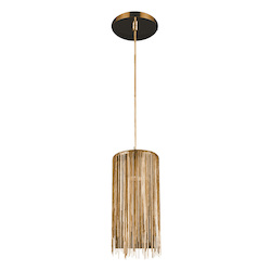 Avenue Lighting Fountain Ave. Collection Gold Jewelry Square Hanging Fixture