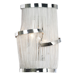 Avenue Lighting Mullholand Drive Collection Chrome Chain Wall Sconce