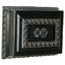 Craftmade CH1201-BK Hand-Carved Rectangle Chime