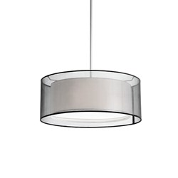 Two Lamp Pendant With Round Shade