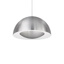 Single Lamp Led Pendant With Brush Nickel Dome Shade