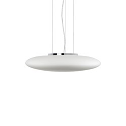 Led Pendant With Grand Ellipse Shaped White Opal Glass