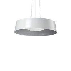 Single Lamp Led Pendant With Black/Gold Or White/Silver Shade
