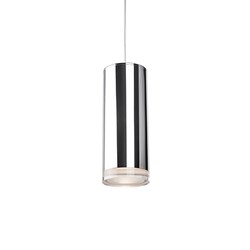 Led Pendant Cylinder Shaped With Clear Crystal Disc