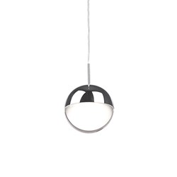 Single Led Pendant Stunning Sphere Shaped Design With Chrome Canopy