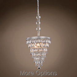 Teardrop Glass Chandelier 3 Light 13