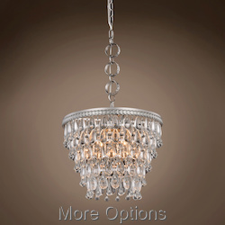 Teardrop Glass Chandelier 4 Light 16