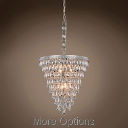 Teardrop Glass Chandelier 5 Light 18