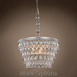 Teardrop Glass Chandelier 5 Light 19