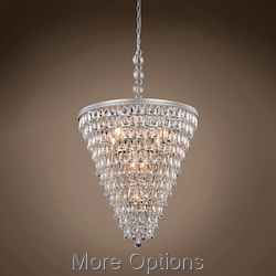 Restoration Revolution Teardrop Glass Chandelier 7 Light 24