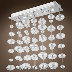 JM Bubbles 6 Light Flush Mount Chandelier Light In Chrome