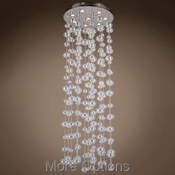 JM Bubbles 8 Light Flush Mount Chandelier Light In Chrome