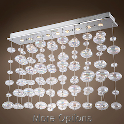 JM Bubbles 9 Light Flush Mount Chandelier Light In Chrome