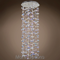 JM Bubbles 10 Light Flush Mount Chandelier In Polished Chrome