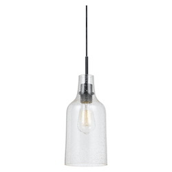 CAL Lighting 60W Cosenza Bubble Glass Pendant Fixture