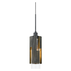 CAL Lighting 60W Reggio Wood Pendant Glass Fixture