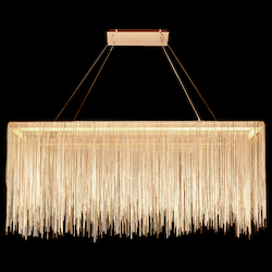 Avenue Lighting Fountain Ave. Collection Gold Jewelry Rectangle Hanging Fixture
