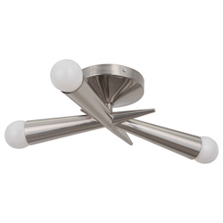 Craftmade 3 Light Polished Nickel Semi Flush