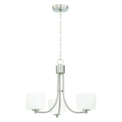 Craftmade 3 Light Brushed Polished Nickel Chandelier