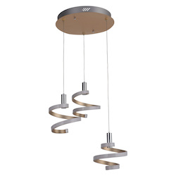 Craftmade 3 Light Mercury Led Mini Pendant