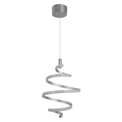 Craftmade 1 Light Matte Silver/Chrome Led Mini Pendant
