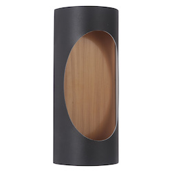 Craftmade 2 Light Matte Black/Satin Brass Led Pocket Sconce