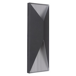 Craftmade 2 Light Matte Black/Brushed Aluminum Led Pocket Sconce