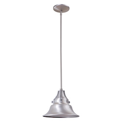 Craftmade 1 Light Satin Aluminum Pendant