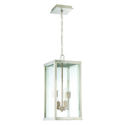 Craftmade 4 Light Brushed Nickel/Patina Aged Brass Pendant