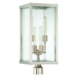Craftmade 4 Light Brushed Nickel/Patina Aged Brass Post Mount