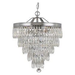 Crystorama Chloe 3 Light Chrome Mini Chandelier