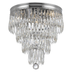 Crystorama Chloe 3 Light Crystal Chrome Flush Mount