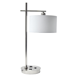 Dainolite 1Lt Table Lamp, Satin Chrome