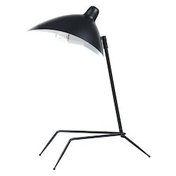 Dainolite 1Lt Table Lamp, Matte Black