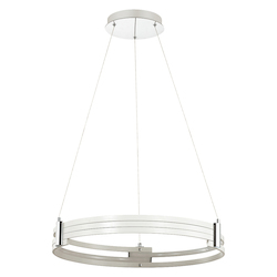 Dainolite 24In. Led Pendant, Matte White Finish