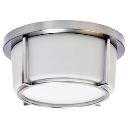 Dainolite 10In. Led Flush Mount, Polished Chrome Finish