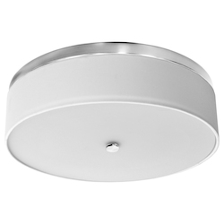 Dainolite 20In. Led Flush Mount, Satin Chrome Finish