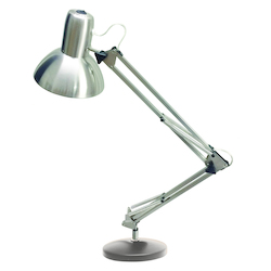 Dainolite Led Table Lamp, Satin Chrome Finish