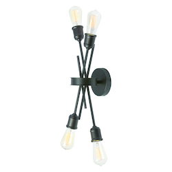 Dainolite 4Lt Wall Sconce, Espresso Finish