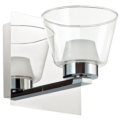 Dainolite 1Lt Wall Sconce, Polished Chrome Finish