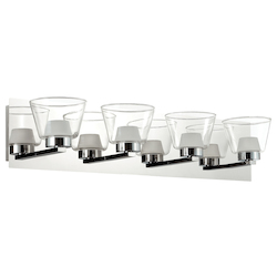 Dainolite 4Lt Led Vanity, Polished Chrome Finish